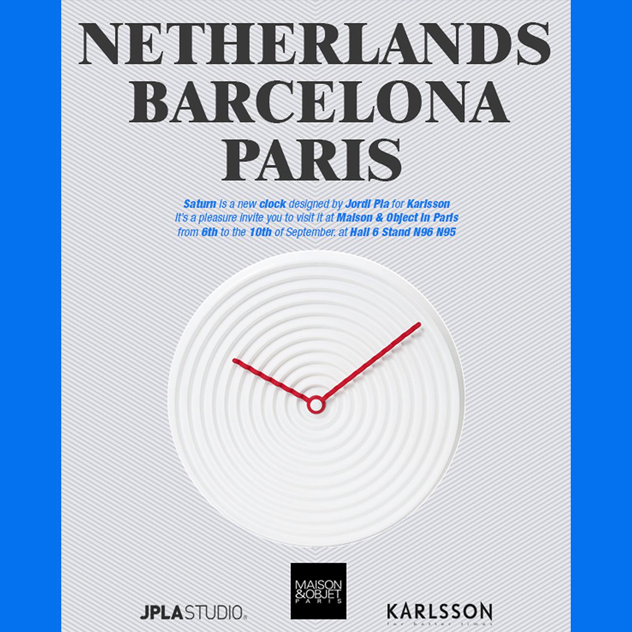 SATURN clock. Karlsson.