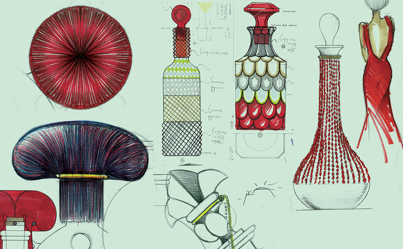 Baccarat stack stopper carafe complement made in aluminium and cork. Designed by Jordi Pla