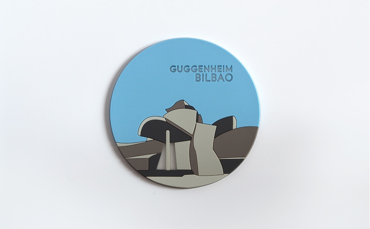 In commemoration of the 20th anniversary of the museum. Guggenheim Bilbao commissioned this line of illustrations by Jordi Pla