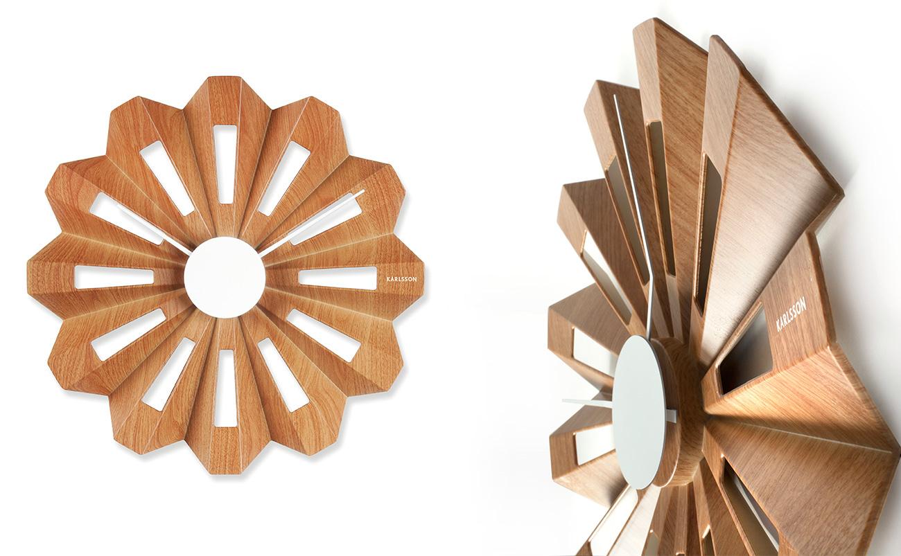 Slices wall clock Lotus wall clock